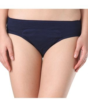 Adira Cotton Period Panty Hipster - Navy Blue