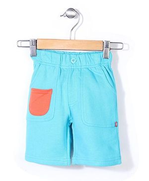 Zutano French Terry Big Pocket Shorts - Light Blue