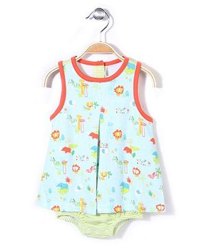 Zutano A Line Onesie - Light Blue