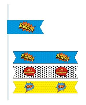 Prettyurparty Superhero Drink Straws- Multi color