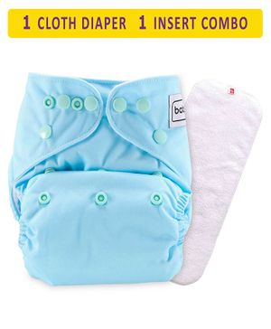 Babyhug Free Size Reusable Cloth Diaper With Insert - Blue