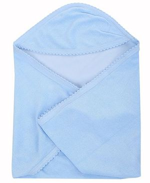 Tinycare Plain Hooded Towel - Blue