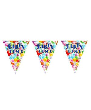 Funcart Party Time Flag  Banner - Multi Color