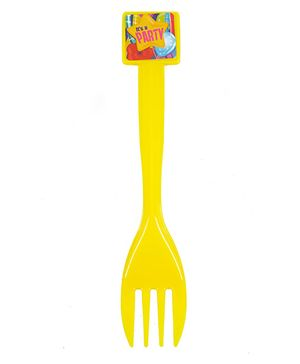 Funcart Fun & Frolic Party Theme Forks Yellow - Pack of 6