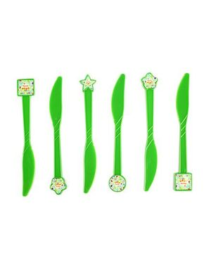 Funcart Frolic Birthday Theme Knife Green - Pack of 6