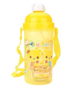Sipper Water Bottle With Push Button Lid - 500 ml
