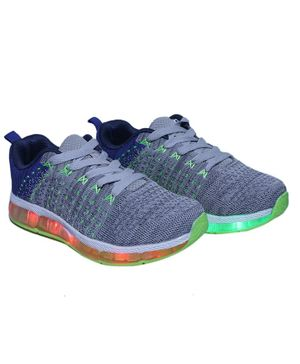 FEETWELL SHOES LED Charging Sneakers - Grey Blue