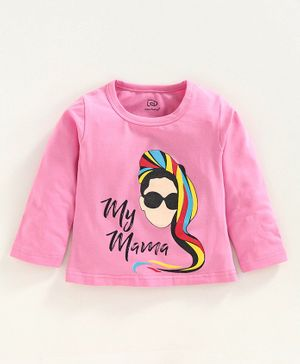 Little Darlings Full Sleeves Tee Girl Print - Pink