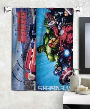 Athom Trendz Pixar Cars & Avengers Bath Towel Pack of 2 - Multicolor