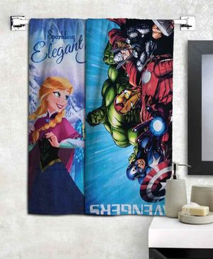 Athom Trendz Disney Frozen & Marvel Avengers Bath Towels Set of 2 - Multicolour