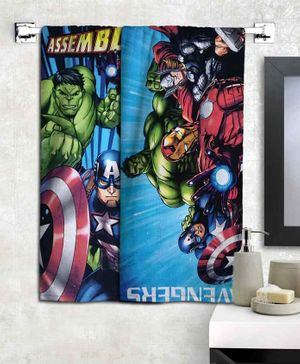 Athom Trendz Marvel Avengers Bath Towels Set of 2 - Multicolour