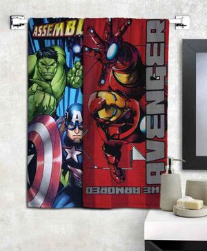 Athom Trendz Marvel Avengers Bath Towel Pack of 2 - Multicolor