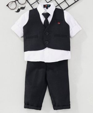 Robo Fry 3 Piece Party Suit With Tie - Blue White
