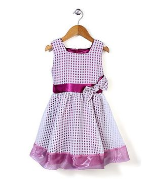 Little Coogie Checkered Dress - Purple