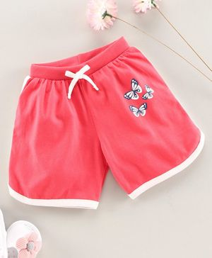 Babyhug Shorts Butterfly Print - Pink