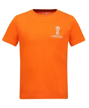 Alcis Half Sleeves Fifa World Cup Print Tee - Orange