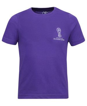Alcis Half Sleeves Fifa World Cup Print Tee - Purple