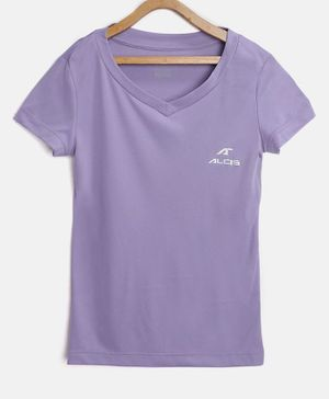 Alcis Solid Half Sleeves Tee - Purple