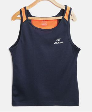 Alcis Sleeveless Solid Tank Tee - Navy