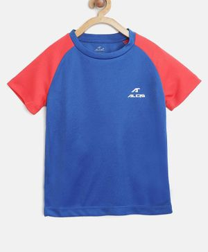 Alcis Color Block Half Sleeves Tee - Blue
