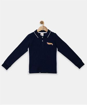 Hot Wheels by Toothless Solid Full Sleeves Tee - Navy