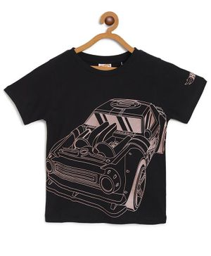 Hot Wheels by Toothless Car Print Half Sleeves Tee - Black