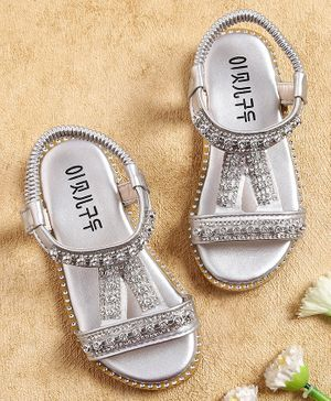 Kidlings Crystal Decorated Sandals - Silver
