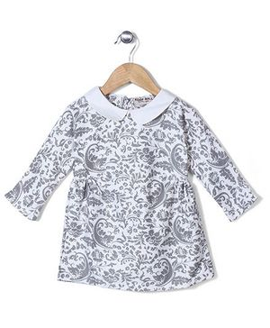 Kiddy Mall Floral Print Dress - Ivory
