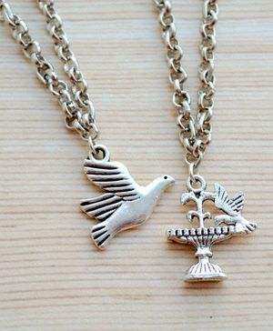Pretty Ponytails Pack Of 2 Bird Pendant Detailing Necklace - Silver