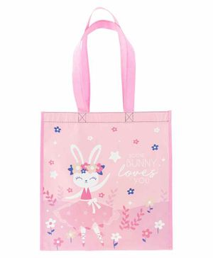 Stephen Joseph Recycled Gift Bag Bunny Large - Pink & Navy