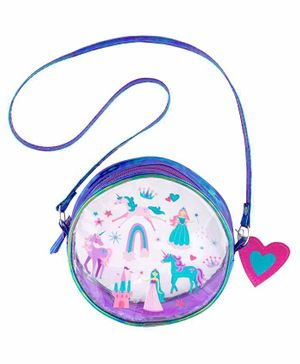 Stephen Joseph Sling Bag Princess & Unicorn Print - Blue