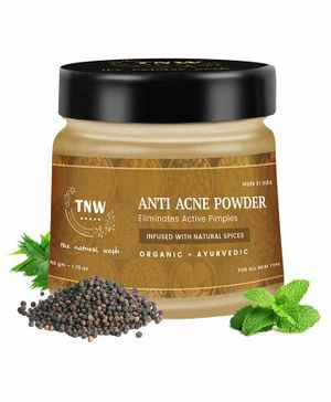 TNW THE NATURAL WASH Anti-Acne Powder for Active Cystic Acne (100% Chemical-free) - 50 g