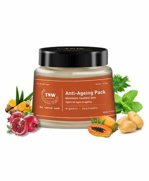 TNW THE NATURAL WASH Ayurvedic Anti-Ageing Pack For Younger Looking Youthful Skin (100% Chemical-free) - 120 g