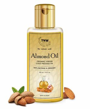 TNW THE NATURAL WASH Cold Pressed Virgin Almond Oil For Skin & Hair 100% Pure & Natural - 100 ml