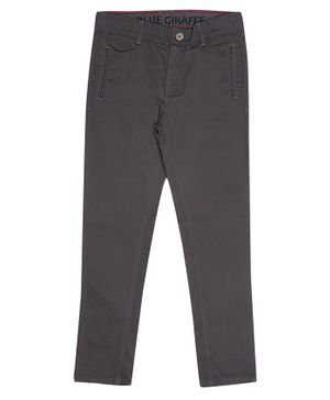 Blue Giraffe Solid Color Full Length Jeans - Grey