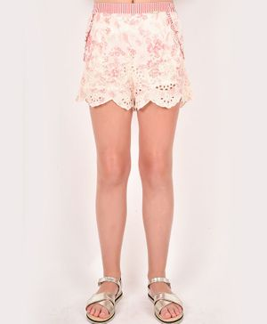 One Friday Schiffli Shorts - Pink