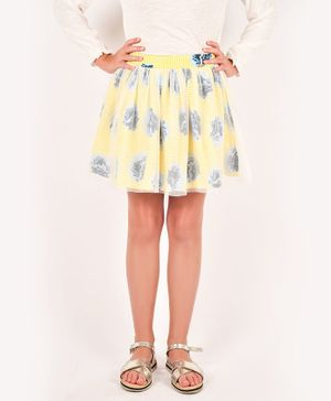 One Friday Flower Printed Skirt - Yellow