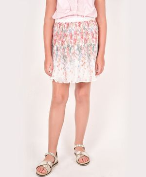 One Friday Flower Printed Skirt - Off White