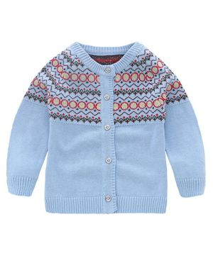 Kookie Kids Full Sleeves Sweater - Blue