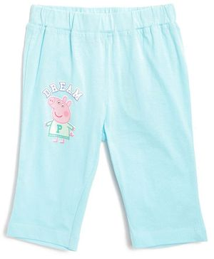 Peppa Pig by Toothless Printed Three Fourth Length Capri  - Sky Blue
