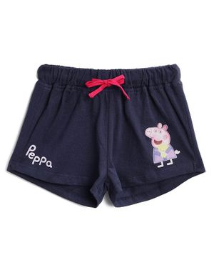 Peppa Pig by Toothless Printed Shorts  - Navy