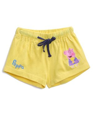 Peppa Pig by Toothless Printed Shorts  - Yellow