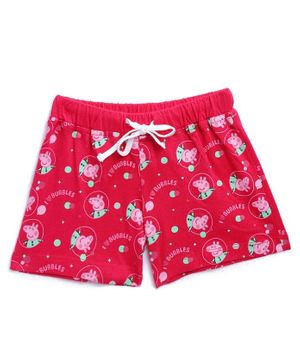 Peppa Pig by Toothless Printed Shorts  - Pink