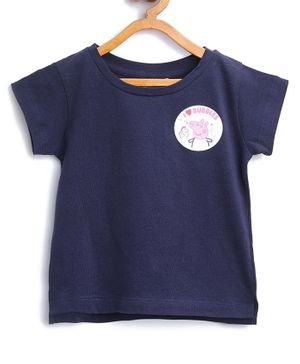 Peppa Pig by Toothless Short Sleeve Printed T-Shirt - Blue