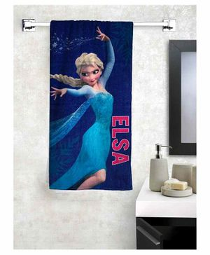 Athom Trendz Disney Frozen 100% Cotton Kids Bath Towel - Blue
