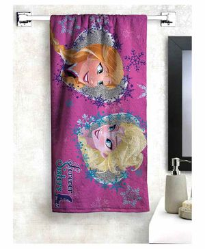 Athom Trendz Disney Frozen 100% Cotton Kids Bath Towel - Pink