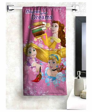 Athom Trendz Disney Princess 100% Cotton Kids Bath Towel - Pink