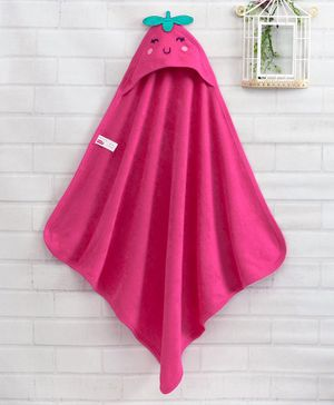 Babyhug Hooded Towel - Pink