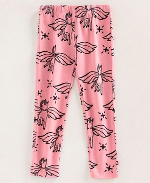 Nino Bambino 100% Organic Cotton Unicorn Print Leggings - Pink