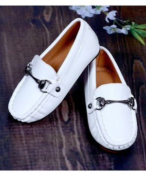 FEETWELL SHOES Horsebit Loafers - White